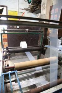 Produkcja wąskich rękawów foliowych